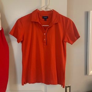 Façonnable Orange Polo Top